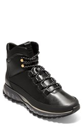 Cole Haan Zerogrand Explore Hiking Boot Black Leather White Magnet