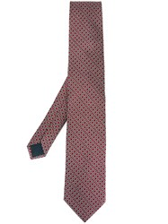 Lanvin Medallion Crest Tie Pink And Purple