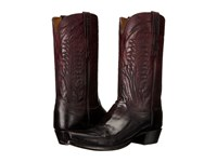 Lucchese Montgomery Oxblood Cowboy Boots Red
