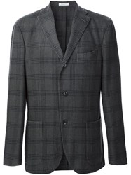 Boglioli Plaid Check Blazer Grey