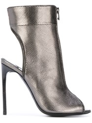 Tom Ford Zipped Bootie Sandals Women Calf Leather Leather 38.5 Metallic