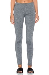 Plush Fleece Lined Marled Legging Gray