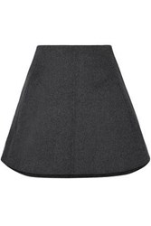 Carven Woman Wool And Cashmere Blend Mini Skirt Charcoal