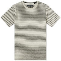 Rag And Bone Railroad Stripe Tee Neutrals