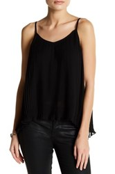 14Th And Union Nova Chiffon Pleated Cami Petite Black