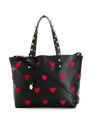 Red Valentino V Heart Patches Tote Black