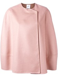 Agnona Short Cape Jacket Pink Purple