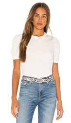 Pam And Gela Puff Sleeve Crew Neck Tee In White.