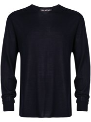 Neil Barrett Fine Knit Jumper Blue