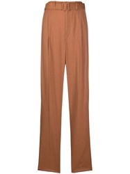 Christophe Lemaire High Waist Belted Trousers 60