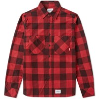 Fuct Ssdd Plaid Flannel Shirt Red