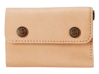 Herschel Spencer Leather Natural Wallet Handbags Beige