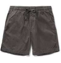 Save Khaki United Easy Slim Fit Cotton Twill Shorts Gray
