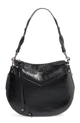 Jimmy Choo Artie Textured Leather Hobo Black