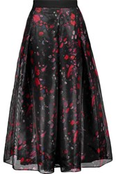 Noir Sachin And Babi Alfonsa Printed Organza Midi Skirt Multi