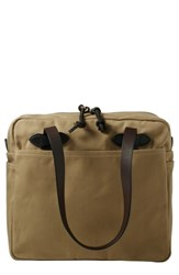 Filson Rugged Twill Zip Tote Bag Brown Tan