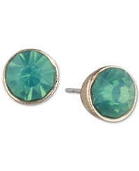 Lonna And Lilly Gold Tone Green Stud Earrings Gold Green