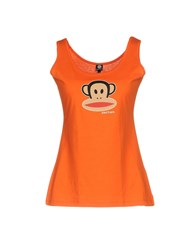 Paul Frank Tank Tops Orange