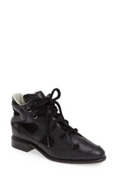Plomo 'Penny' High Top Leather And Suede Sneaker Black