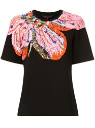 Manish Arora Sequinned Short Sleeve T Shirt Black