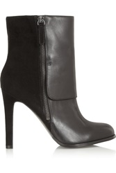 Pour La Victoire Tonia Leather And Suede Ankle Boots Black