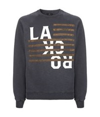 7 For All Mankind La Rock Sweater Grey