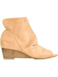 Marsa Ll Wedge Ankle Boots Nude And Neutrals