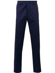 Massimo Piombo Mp Tapered Trousers Men Cotton 54 Blue