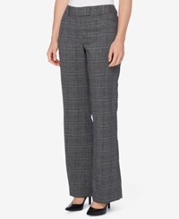 Tahari By Arthur S. Levine Asl Petite Plaid Trousers Grey Black