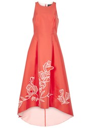 Noir Sachin And Babi Ophelia Coral Cut Out Mikado Gown Red