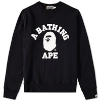 A Bathing Ape College Crew Sweat Black