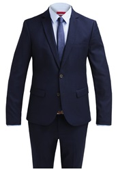 Kiomi Slim Fit Suit Navy Dark Blue
