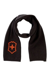 Victorinox Cross And Shield Intarsia Scarf Brown