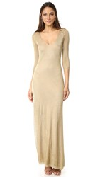 Dsquared Long Sleeve Maxi Dress Gold