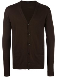 Roberto Collina V Neck Cardigan Brown
