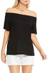 Vince Camuto Women's Two By Off The Shoulder Tee Rich Black