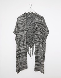 Warehouse Triangle Fringe Scarf Grey