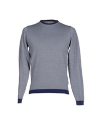 Alpha Studio Knitwear Jumpers Men Blue