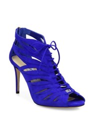 Jimmy Choo Keena Cutout Suede Lace Up Sandals