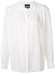 A.P.C. Relaxed Textured Blouse White