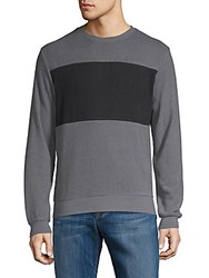 Hyden Yoo Colorblock Long Sleeve Tee Anthracite