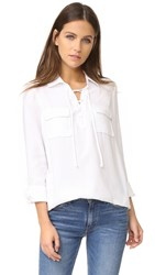 Bb Dakota Jack By Nutmeg Lace Up Shirt Bright White