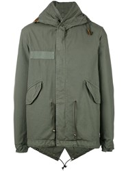 Mr And Mrs Italy Hooded Military Coat Green
