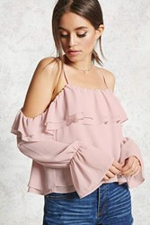 Forever 21 Contemporary Chiffon Top Light Pink