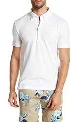 Lands' End Stretch Pique Short Sleeve Polo White
