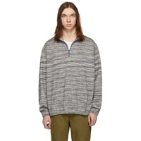 Missoni Multicolor Striped Half Zip Sweater