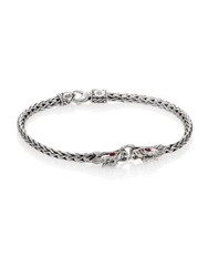 John Hardy Naga Ruby And Sterling Silver Classic Chain Bracelet
