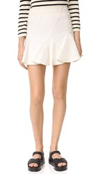 Derek Lam Flare Miniskirt With Lacing Soft White