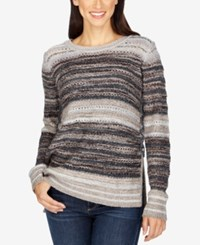 Lucky Brand Striped Lace Up Sweater Multi