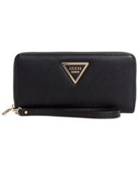 Guess Marisole Zip Around Boxed Wallet Black